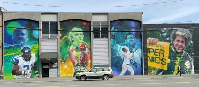 "The 1st Avenue South ""Wall of Fame"" in SoDo"